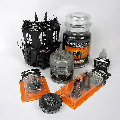 Lot New Yankee Candle Halloween Theme Jar Candle Witches Brew House Spheres
