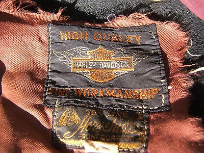 Harley Davidson Horsehide Leather Jacket Vintage D Pocket