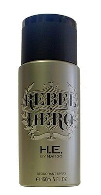 REBEL HERO de MANGO - Desodorante / Deodorant Spray 150 mL - Hombre / Man / Uomo
