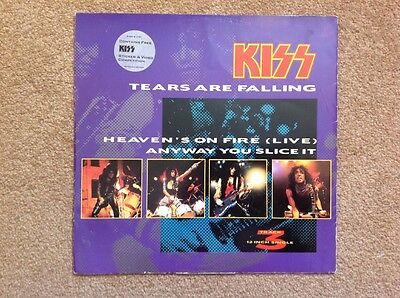 "KISS - 1985 Vinyl 45rpm 12"" Single - TEARS ARE FALLING"