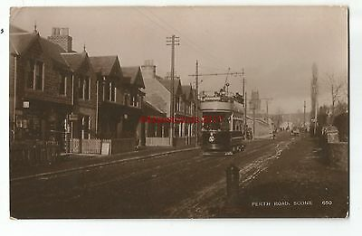 Scotland Scone Perth Road Real Photo Vintage Postcard