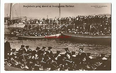 Scotland Invergordon Bluejackets Going Aboard Real Photo Vintage Postcard