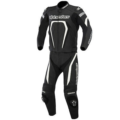 Alpinestars Motegi 2015 Two Piece Mens Leather Suit Black/White