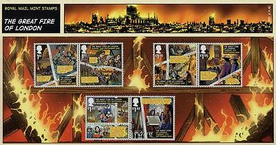 GB 2016 GREAT FIRE OF LONDON PRESENTATION PACK No 531 MINT STAMP SET SG 3879 -84