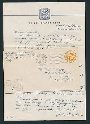 03744) USA WWII field post APO 6 Sansapor Indonesien cover 23.12.44 Inhalt