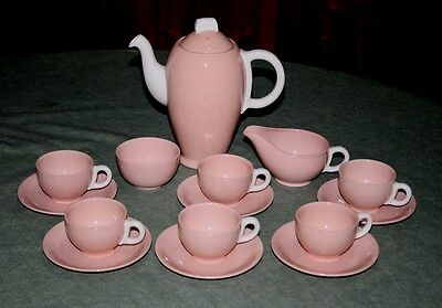 Vintage Grindley Rose Leaf Demi Tasse Coffee Set c.1950's - Immaculate