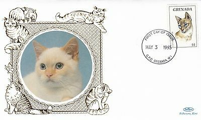 (01754) Grenada Benham FDC Cats 3 May 1995