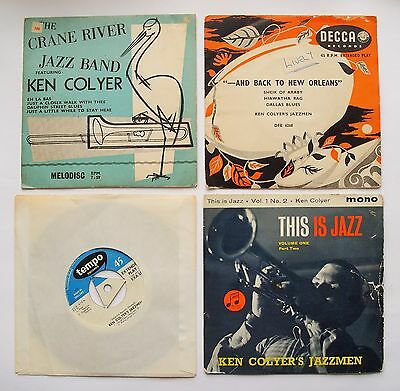 KEN COLYER 4 EPs inc CRANE RIVER JAZZ BAND condition is not very good