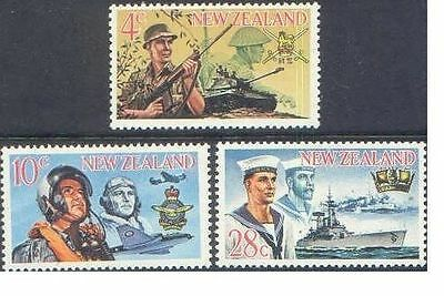 New Zealand 1968 ARMED FORCES (3) Unhinged Mint SG 884-6