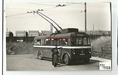 Manchester Trolley Bus GHN 563 Averdale Real Photo 57/553
