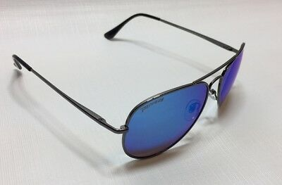f21a00d803 NEW Peppers Freeway Silver Blue Mirror Aviator Polarized Sunglasses Msrp 35