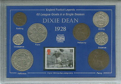 Everton (The Toffees) Vintage Dixie Dean Legend Coin & Stamp Fan Gift Set 1928