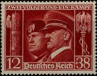 GERMANY Third Reich stamps Mi 763 ADOLF HITLER and Benito Mussolini MNH