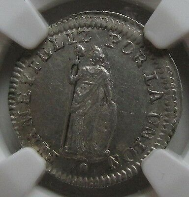 North Peru, Lima 1838-MB 1/2 Real NGC AU58 ex Lissner Collection