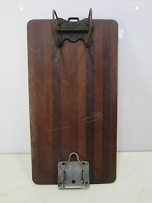Vintage Globe Wernicke Co. Wooden Legal Size Clip Board w/Hole Punch