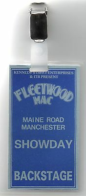 Fleetwood Mac Back Stage Pass 1988 Original Pass 29 Yrs Old Gem Manchester Gig