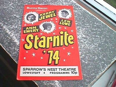 Starnite '74 Programme - Sparrow's Nest Theatre, Lowestoft