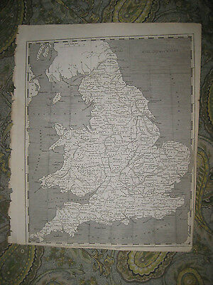 Superb Antique 1805 England Wales Copperplate Arrowsmith & Lewis Map Rare Fine