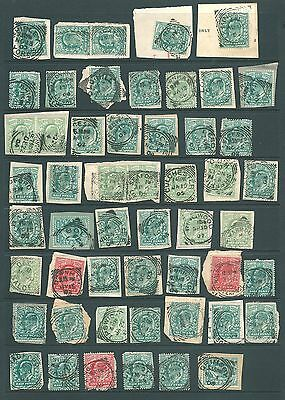 GB - Unchecked stamp collection of Edward VII SQUARED CIRCLE postmarks