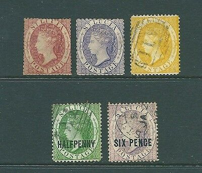 ST LUCIA - Early Queen Victoria stamp collection
