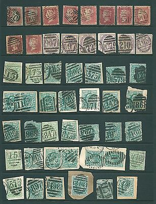 GB - Unchecked stamp collection of Victorian & Edward VII NUMERAL postmarks