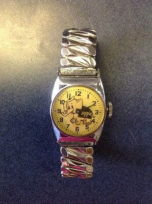 Vintage Toppie Wrist Watch 1950's Promotional Rare Bellavance Top Value Stamps