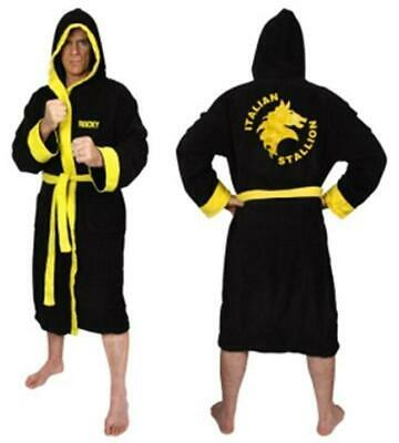 Rocky Italian Stallion Fleece Hooded Dressing Gown Bathrobe