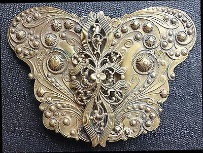 Antique Victorian 2 Piece Butterfly Belt Buckle