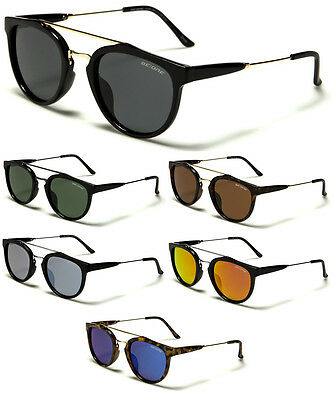 Polarized Men's Women's Round Vintage Designer Sunglasses Mirrored Lens