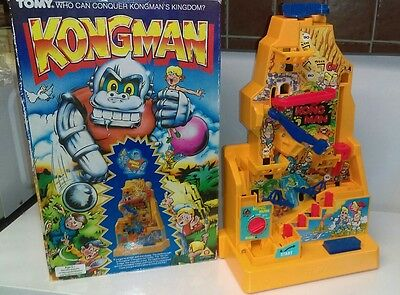 Vintage cult classic toy working boxed Tomy Kongman king kong