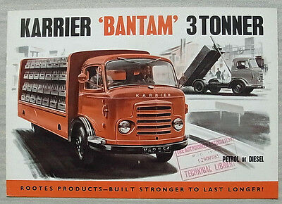 KARRIER BANTAM 3 TONNER Commercial Sales Brochure Oct 1963 #1484