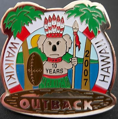 J4074Rc Outback Steakhouse Hawaii Waikiki 10 yearsi hat lapel pin