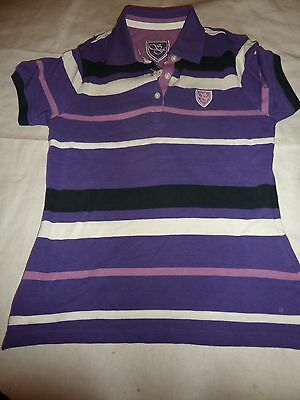 New Sherwood  Forest T-Shirt Purple Stripe  Adults 10 More Sizes Listed