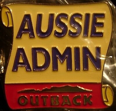 J4182 Outback Steakhouse hat lapel pin Aussie Admin