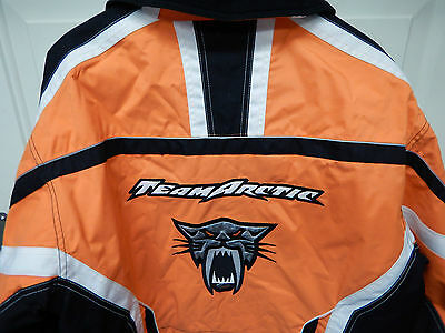 Team Arctic Cat Womans Snowmoblie Racewear Orange Jacket: V-tex: CatGirl: Size M