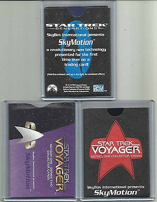 "Star Trek (Lot of Three) SKYMOTION ""Chase Cards"" W/Sleeves/CONGRATULATION CARDS"