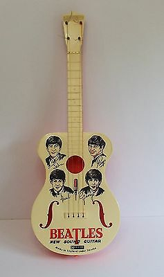 The Beatles 1964 Selcol New Sound Plastic Toy Guitar Rare Collectors Item