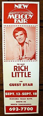 Rare Rich Little Poster - Melody Fair - ORIGINAL - Buffalo, NY
