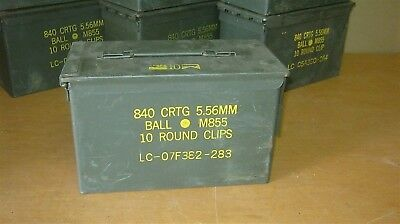 Ammo Cans M2A1 11x7x6 .50 cal 5.56 7.62 9mm Genuine Military Surplus Storage Box