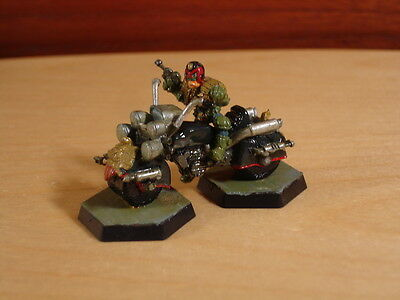 Judge Dredd On Lawmaster Metal Miniature, Painted, MegaCity 2000AD Citadel RPG