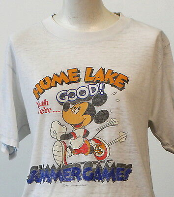 vintage 80s MICKEY MOUSE paper thin T SHIRT medium
