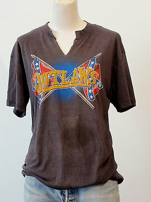 vintage 80s OUTLAWS super soft thin TOUR T SHIRT medium SOUTHERN ROCK