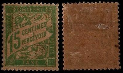 TAXE DUVAL 15c vert, Neuf * = Cote 45 € / Lot Timbre France n°30