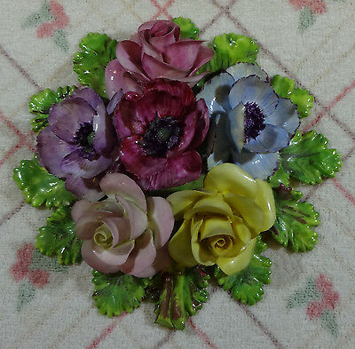 Collectable Ceramic Floral Wall Plaque. Very Pretty.