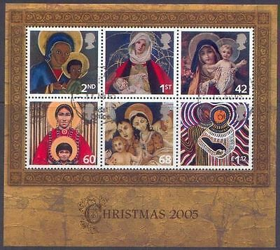 GB 2005 CHRISTMAS MiniSheet Very Fine Used (CTO with gum) SG MS2588