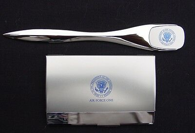 Air Force One Business Card Holder and Letter Opener / White House