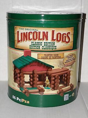The Original Lincoln Logs Classic Edition Frontier Cabin 86 Pieces Exc Condition