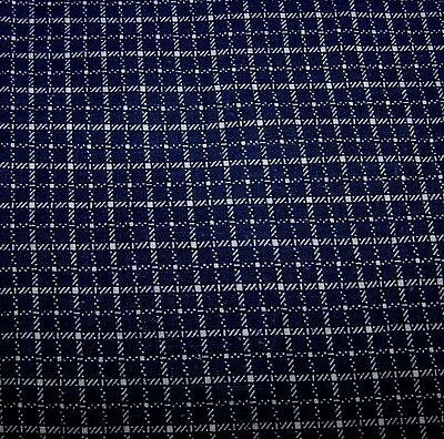 1890-1910 Pc Antique Cotton Fabric-Print Indigo/white-Stash-Repair-Restore-Quilt