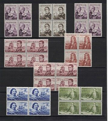 1963/5 Australia Navigators SG 355/60a block four 2 muh/2 mlh set 8