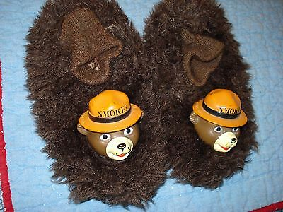 Smokey The Bear Figural Bedroom Slippers